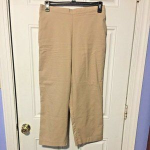 Alfred Dunner Size 14P Khaki Pants Pull On